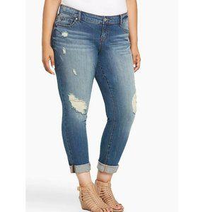 Torrid Distressed Boyfriend Jeans Size 16